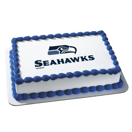 NFL Seattle Seahawks Edible Frosting Photo Medium Size Cake Topper