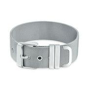 Unisex Wide Wrist Band Belt Buckle Mesh Bracelet for Men for Women Silver Tone Stainless Steel Adjustable