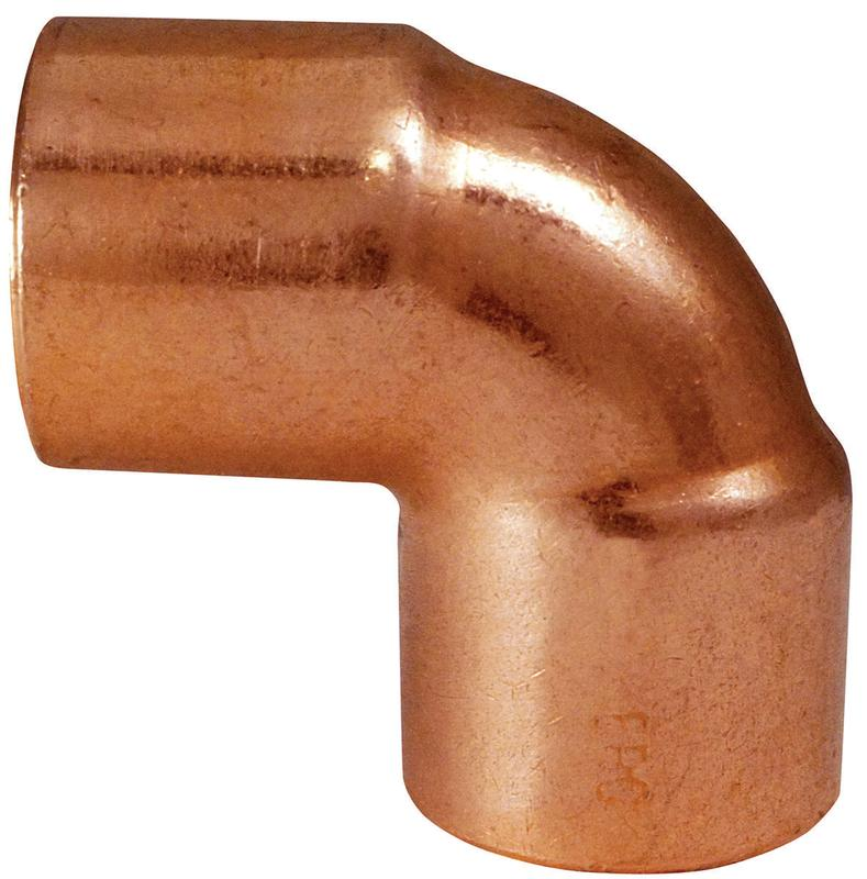 EPC 31266 Close Rough Solder Pipe Elbow, 90 deg, 3/8 in, Copper, Wrot Copper