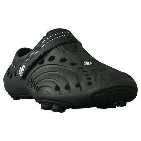 DAWGS Boys Spirit Golf Shoes BLACK WITH BLACK 5 M US