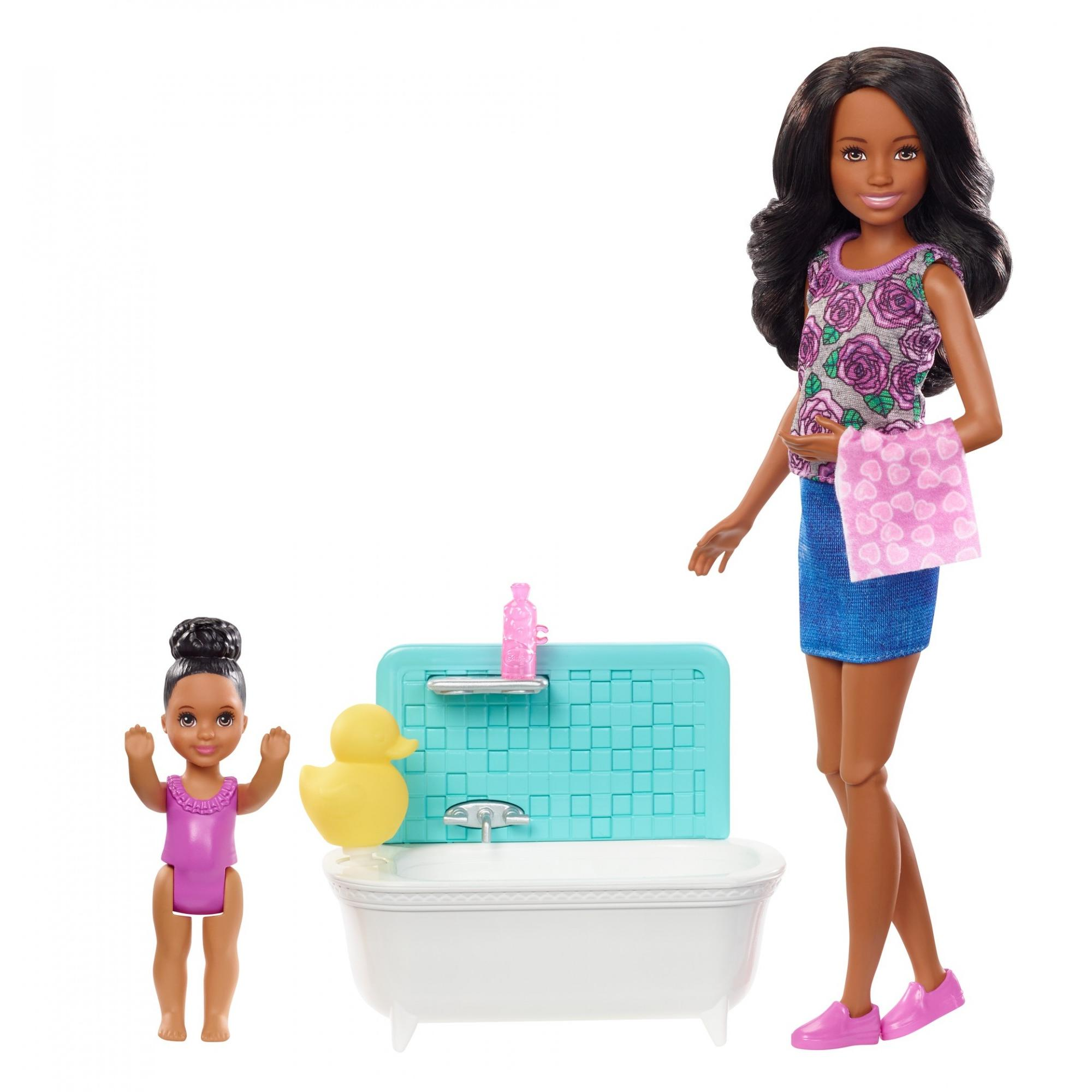 Barbie Skipper Babysitters Inc Bath Time Playset with Toddler Doll