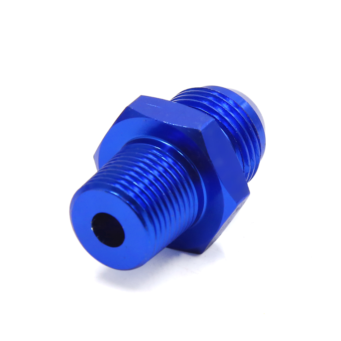 Blue Car AN8 3/8NPT Gas Oil Fuel Hose Line End Fitting Adapter Hose Connector - image 2 of 4