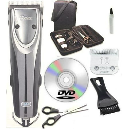 Oster 2-Speed Outlaw Animal Clipper + Case +DVD + Shears + #10 +A5