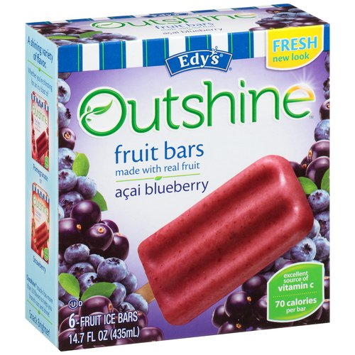 That's why Nestle uses real fruits and veggies in their products, and works with local food banks to bring fruits and veggies to communities that need better access to fresh produce. As always, Outshine® Bars are made with simple, honest ingredients—for the quality and refreshment you love.