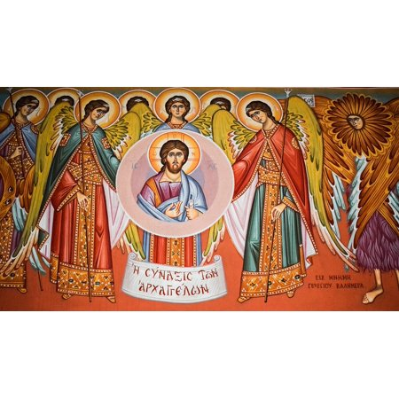 Canvas Print Church Painting Congregation Of Angels Iconography Stretched Canvas 10 x 14