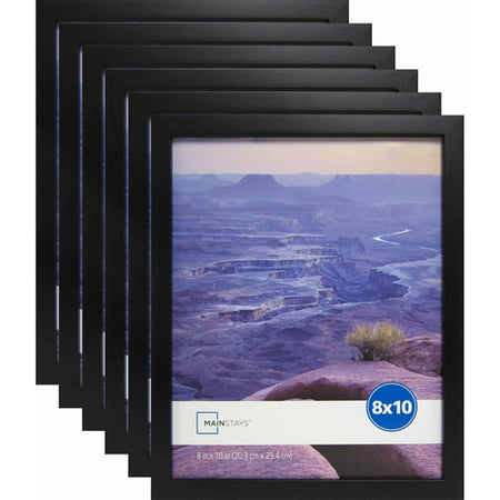 mainstays 8 x 10 black linear frame