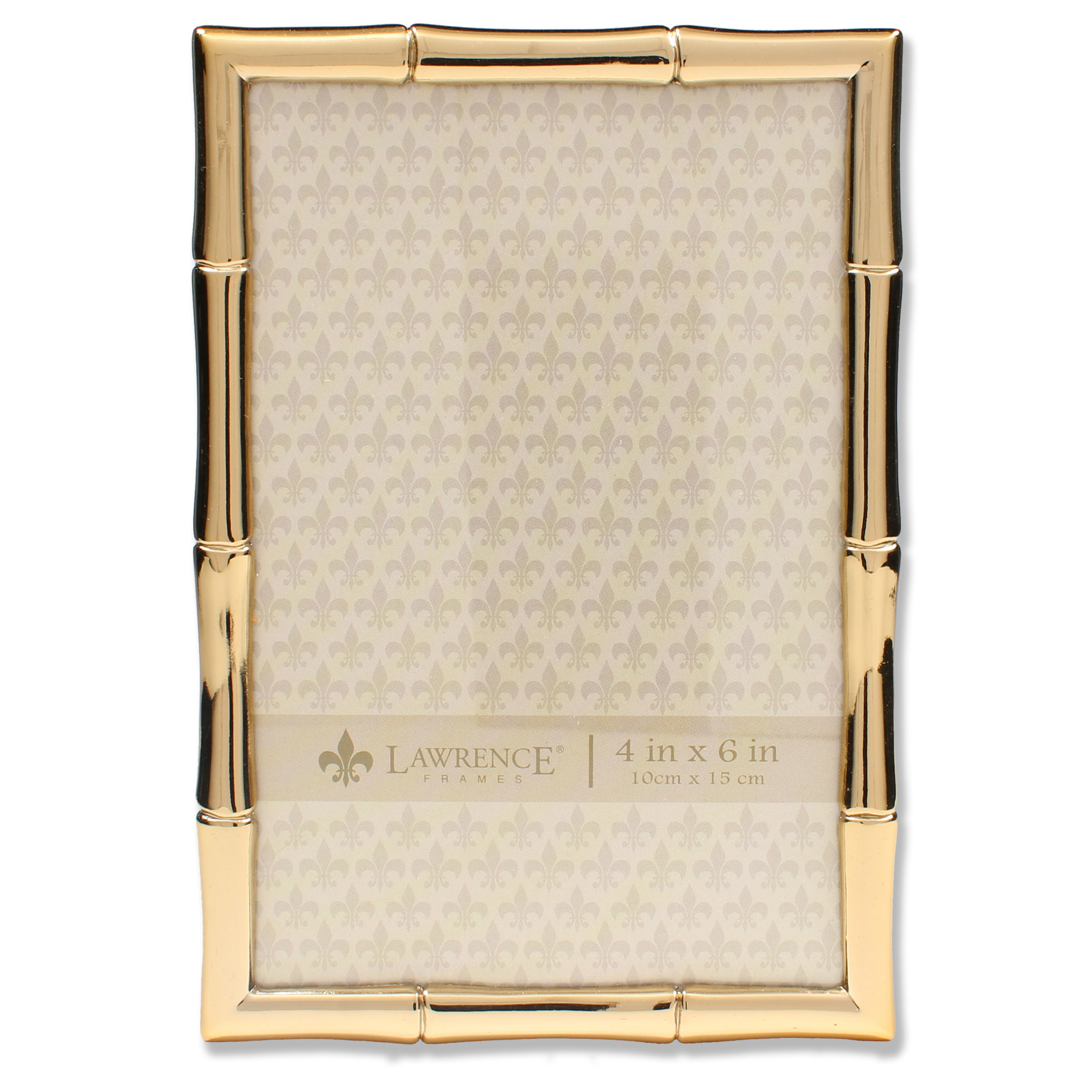 4x6 Gold Metal Picture Frame with Bamboo Design