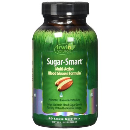 Sugar-Smart Multi-Action Blood Glucose Formula by Irwin Naturals, Supports Healthy Blood Sugar and Metabolism, 80 Liquid