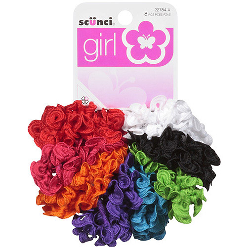 Scunci Girl Hair Scrunchies, 8 count