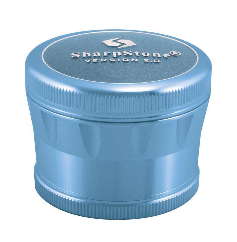 """2.2"""" Sharpstone 2.0 4pc Solid Top Grinder - Blue"""