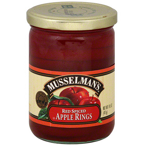 (12 Pack) Musselman's Red Spiced Apple Rings, 14.5 oz