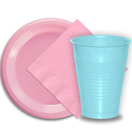 Disposable Wedding Plates Cups And Napkins (50 Pink Plastic Plates (9