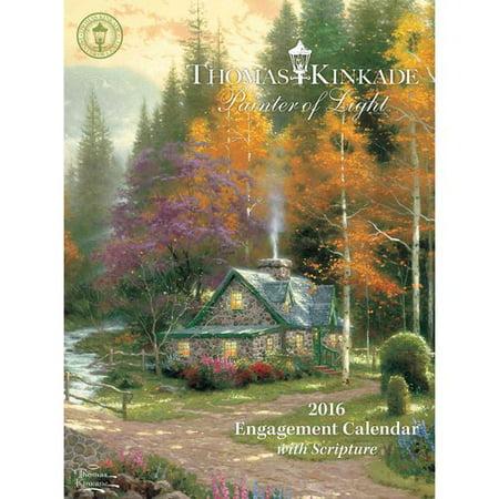 Thomas Kinkade Painter of Light With Scripture 2016 Calendar