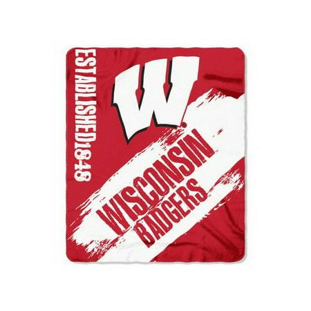 Northwest Wisconsin Badgers Blanket - 50x60 Fleece - College Painted Design (Wisconsin Blanket)