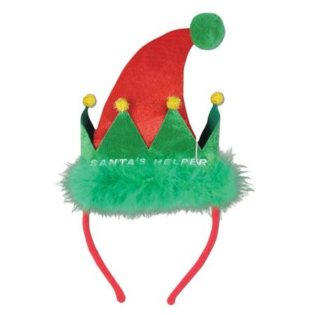 Santa Helper Headband Adult Halloween Accessory](Santa For Halloween)
