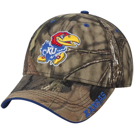 Kansas Jayhawks Mossy Oak Clean Up Adjustable Hat - Camo - OSFA (Kansas Jayhawks Santa Hat)