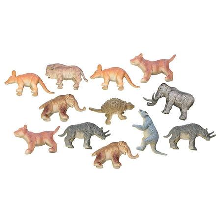 - Miniature Ice Age Animal Figurines Replicas - Prehistoric - Mini Action Figures - Miniature Animal Playset