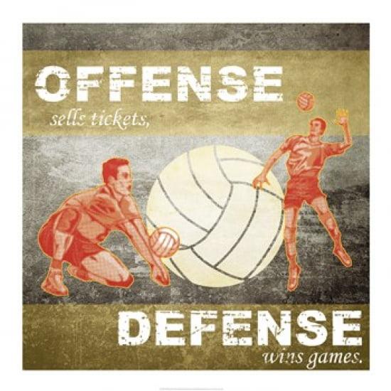 Offense, Defense Poster Print (18 x 18)