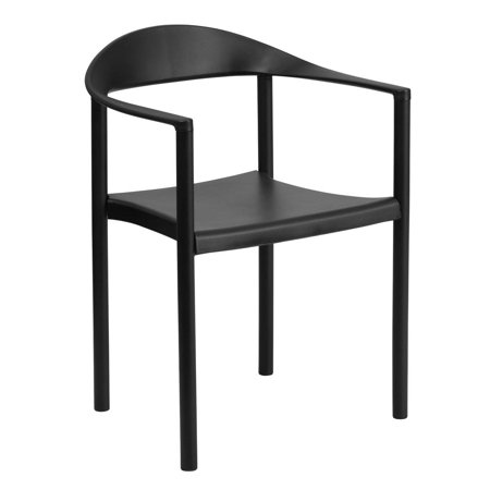 1000 lb. Capacity Black Plastic Cafe Stack Chair ()