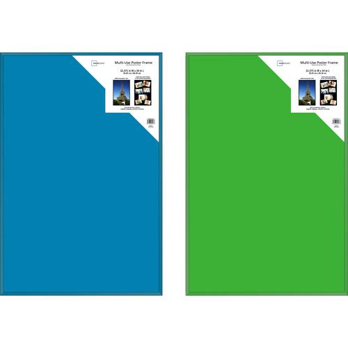 Poster Frame Sets Aqua/Green, Set of 2