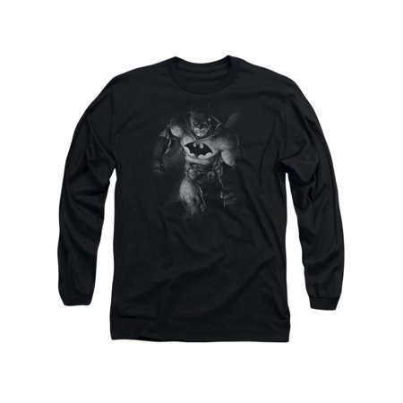 Batman DC Comics Materialized Adult Long Sleeve T-Shirt Tee (Adult Batman Shirt)