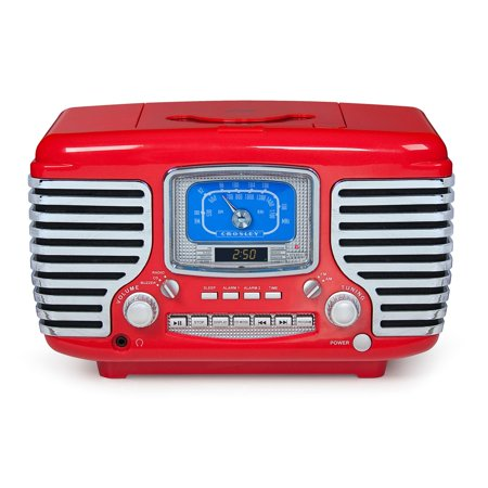 Crosley Radio CR612-RE Corsair CD Player, Red ()