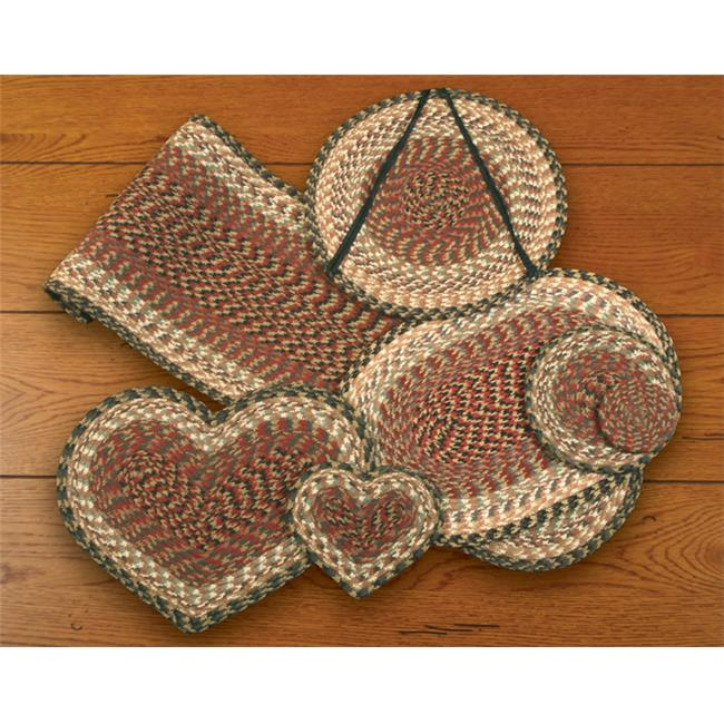 Earth Rugs 60-057 Burgundy-Gray-Creme Heart Placemat