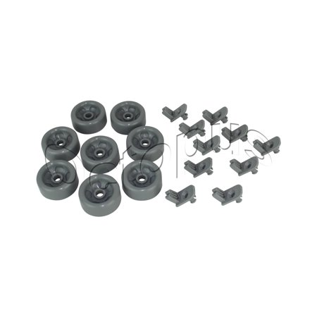 Multi Pack WD12X10136 & WD12X10277 Fits GE Dishwasher Rack Roller Wheel & Stud ()