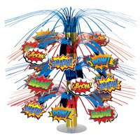 Super Hero Cascade Centerpiece 18 inch - Party Supplies - Superhero - 1 per pack