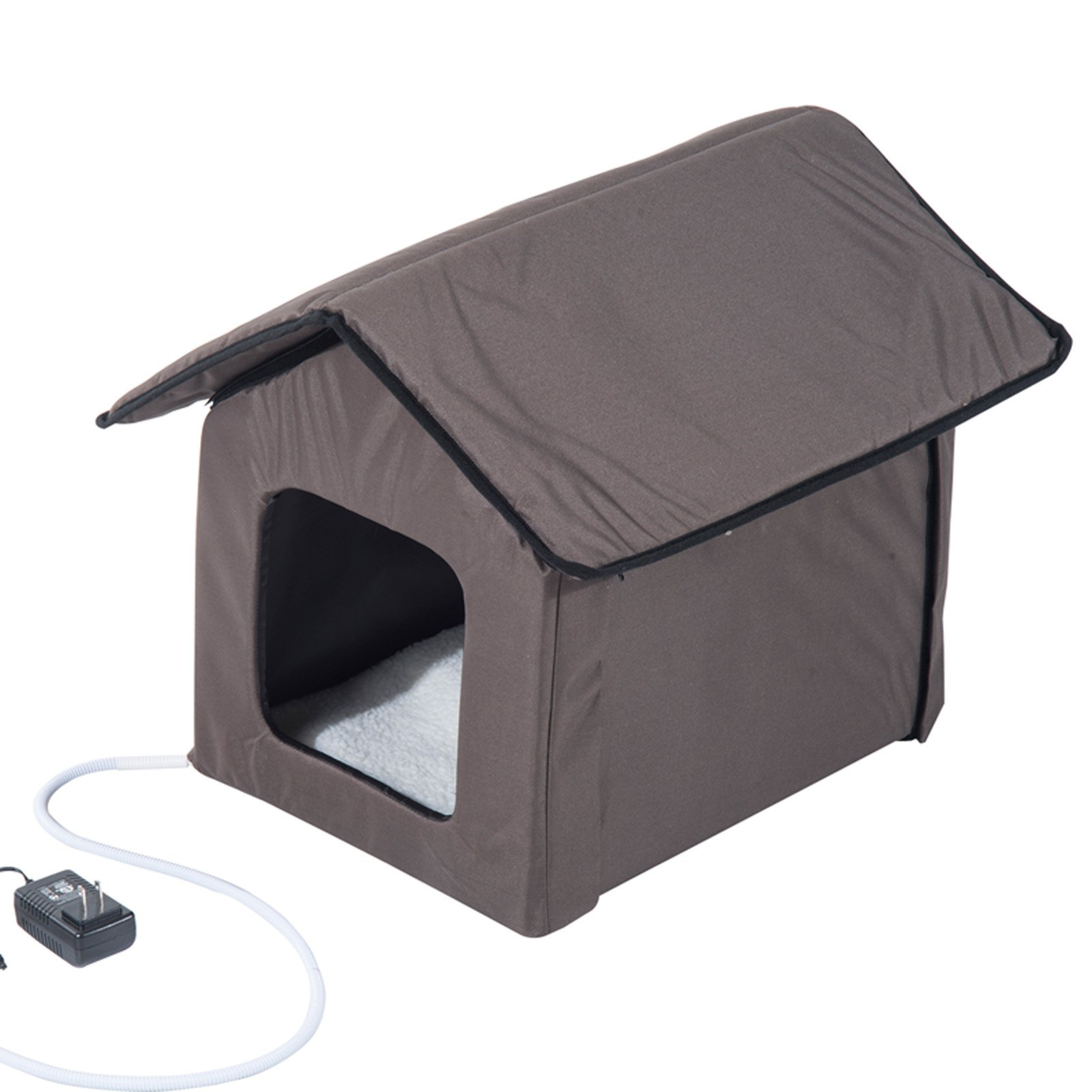 Pawhut Outdoor Heated Standard Frame Cat House Walmart Com