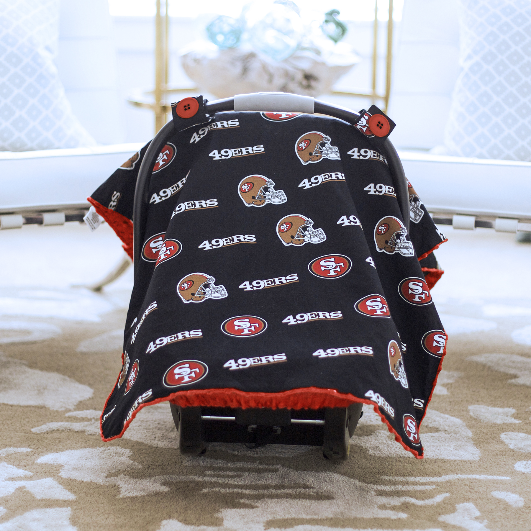 Baby Fanatic Car Seat Canopy, San Francisco 49ers