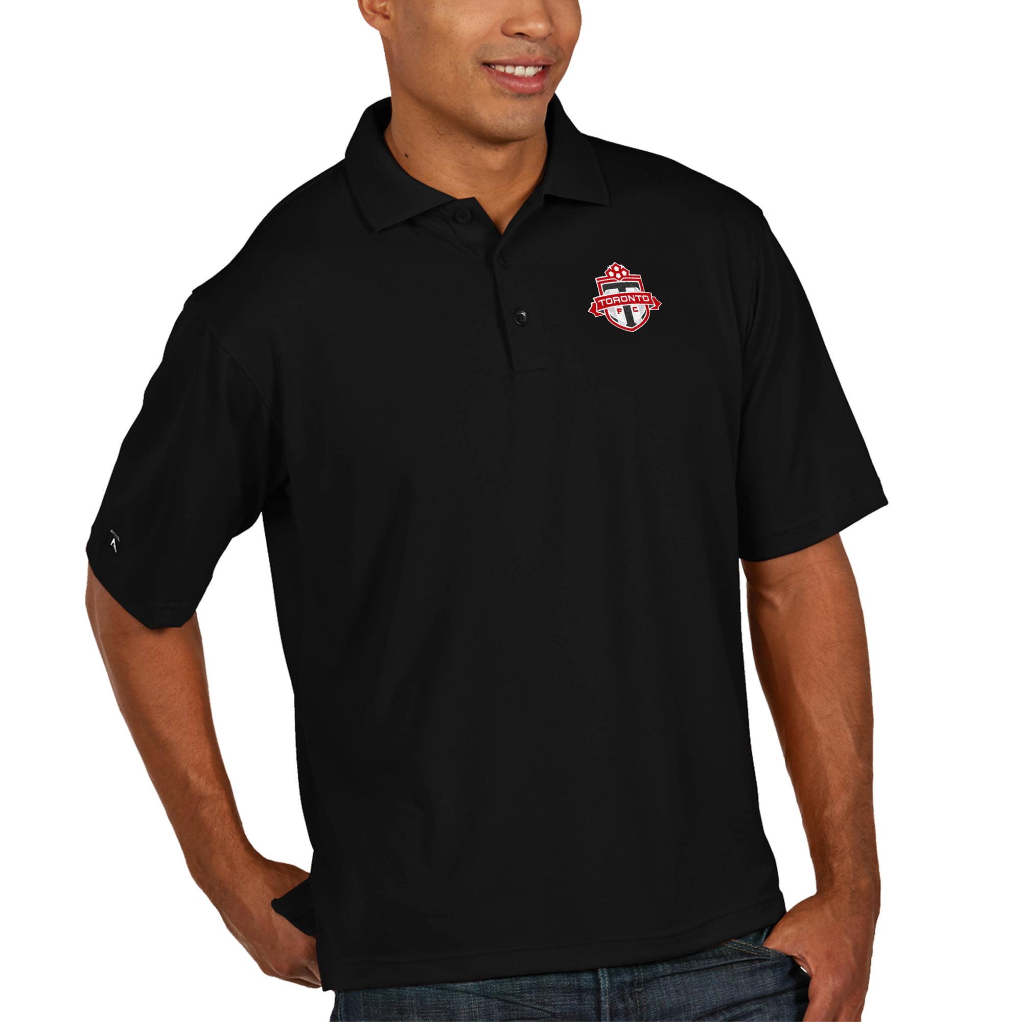 Toronto FC Antigua Pique Xtra Lite Big & Tall Polo - Black