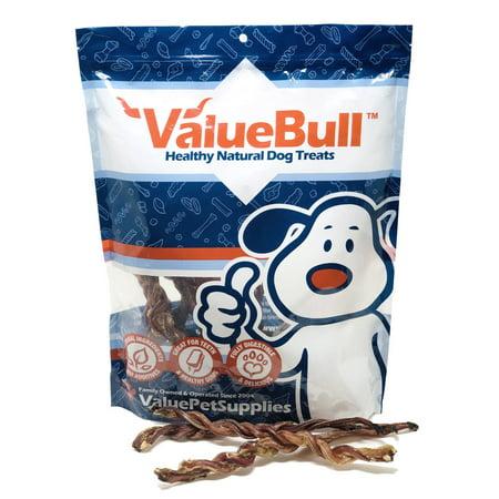 Lamb Pizzle Twists (ValueBull USA Lamb Pizzle Twist Dog Chews, 8 Inch, 10 Count )