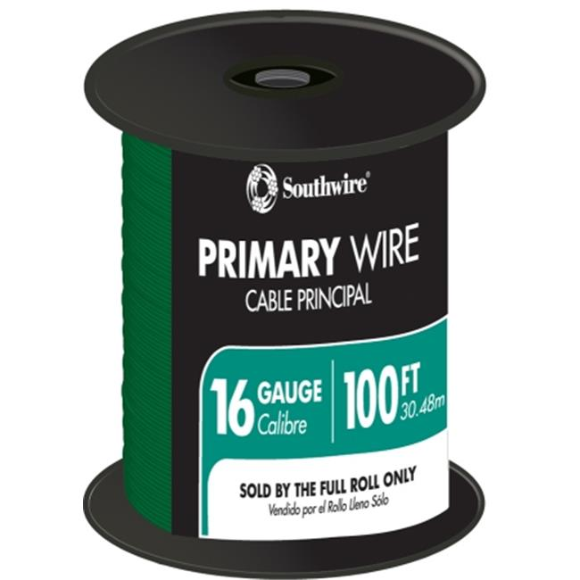 Southwire Company 56422023 100 ft.  Green 16 Gauge 19 Strand Primary Auto Wire