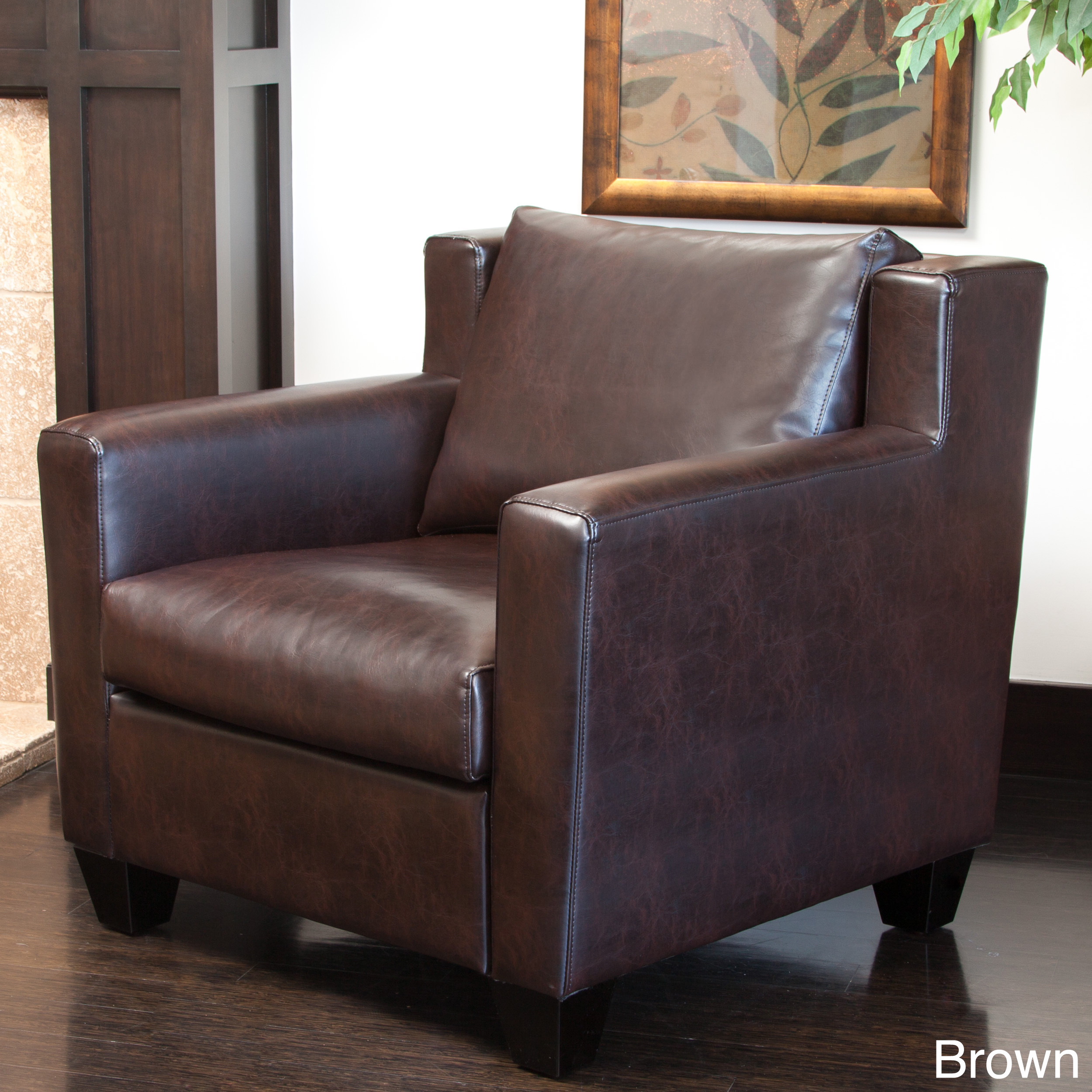 Superieur Christopher Knight Home Quaker Leather Club Chair Quaker Brown Leather Club  Chair