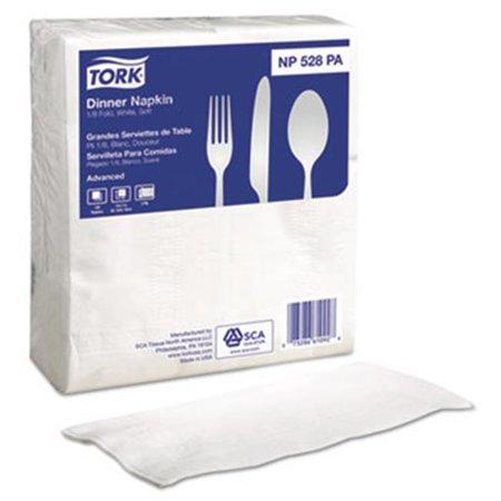 Sca Tissue North America Np528pa Advanced White Dinner Fold Napkins   15 X 17