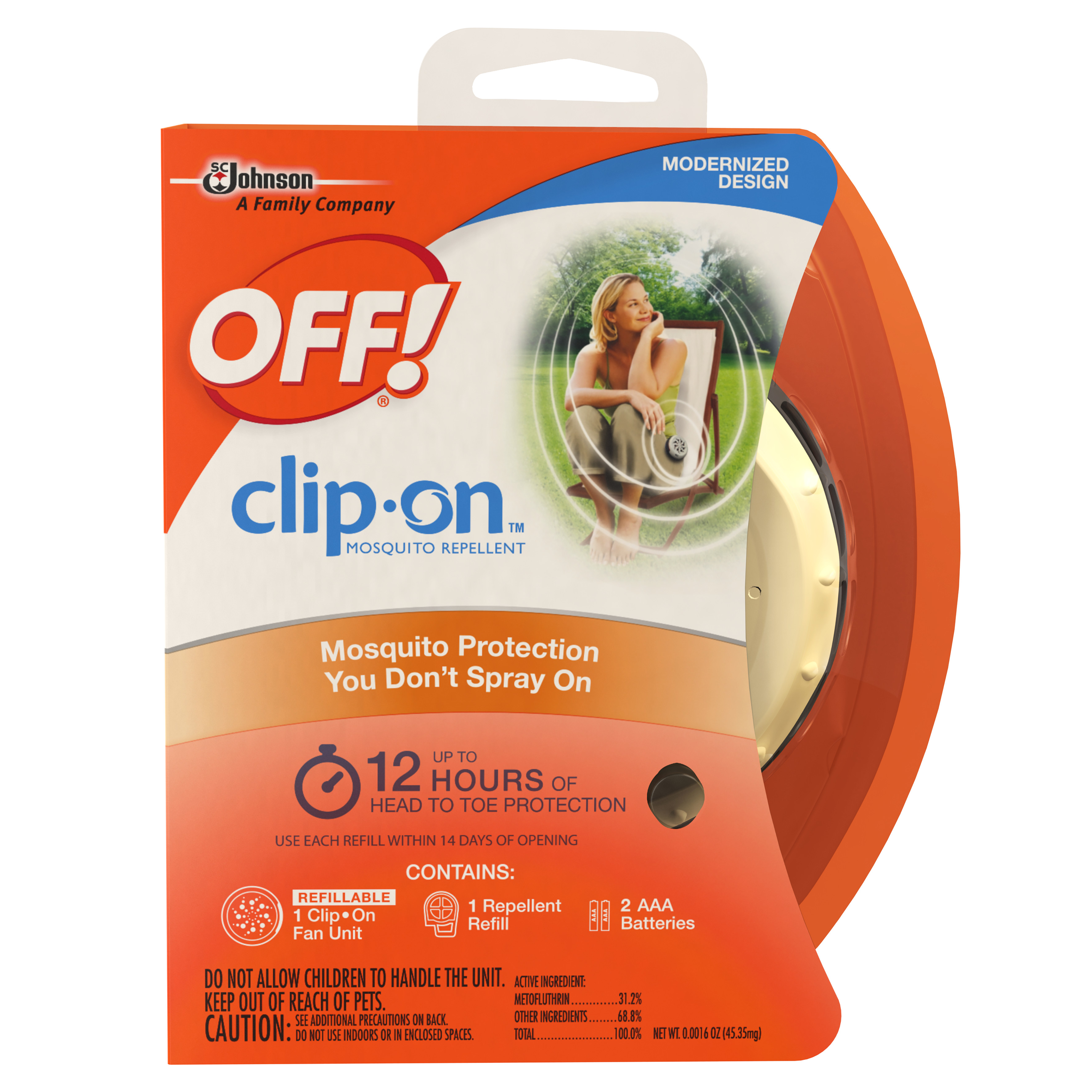 OFF! Clip-On Mosquito Repellent 0.0016 Ounces