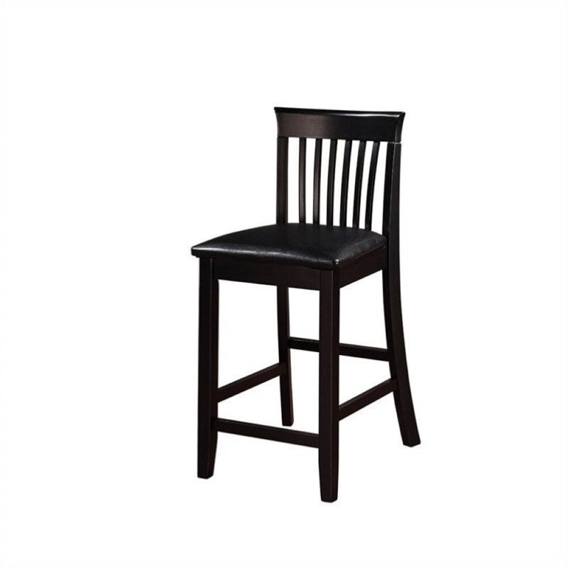 """Hawthorne Collection 24"""" Faux Leather Counter Stool in Black - image 1 of 1"""