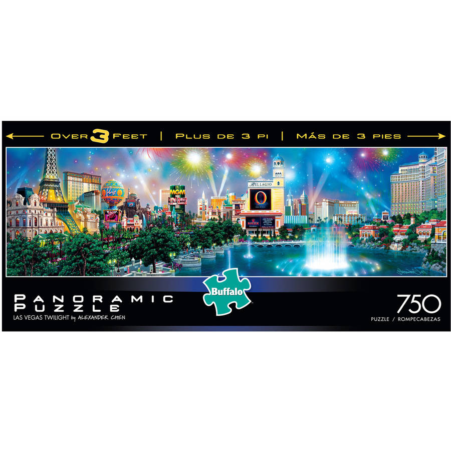 Alexander Chen, Las Vegas Twilight Panoramic Puzzle, 750 Pieces