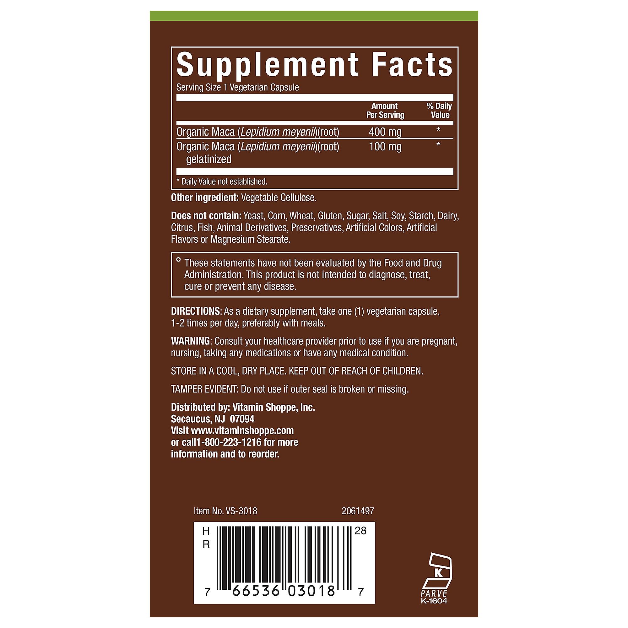 plnt Maca (Lepidium meyenii) Organic, NonGMO Peruvian Maca with Raw  Gelatinized Maca Supports Vitality, Energy Stamina (120 Vegetarian Capsules)