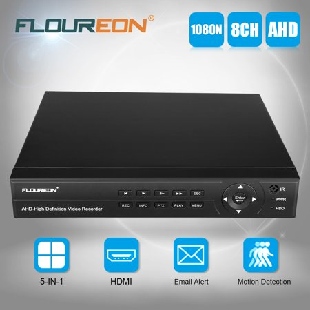 FLOUREON 8CH 1080P 1080N HDMI H.264 CCTV Security Video Recorder Cloud DVR US Digital Surveillance Recorder Dvr Card