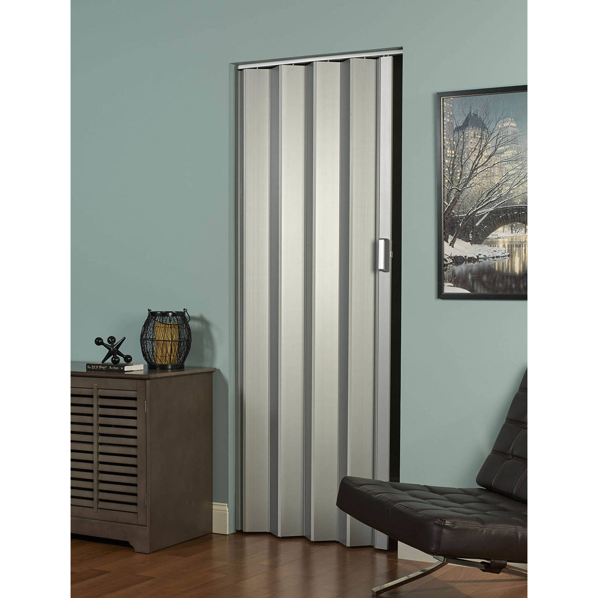 Elite Folding Door Satin Silver