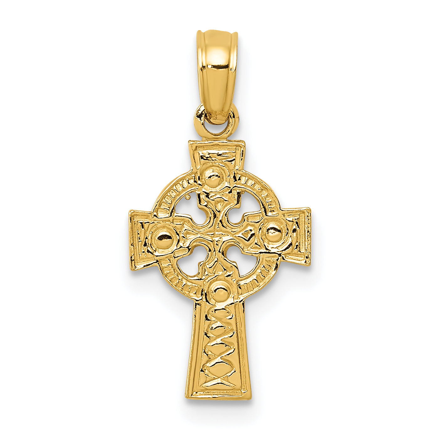 14K Two Tone Gold Praying Jesus Yo Reinare Pendant with 1.2mm Singapore Chain Chain Necklace