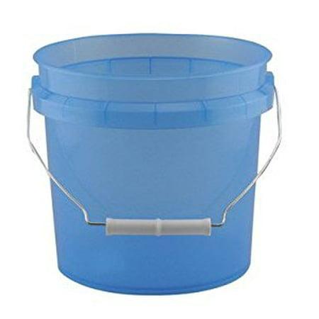 PLASTIC PAIL 1G TRNS BLU - Plastic Pails