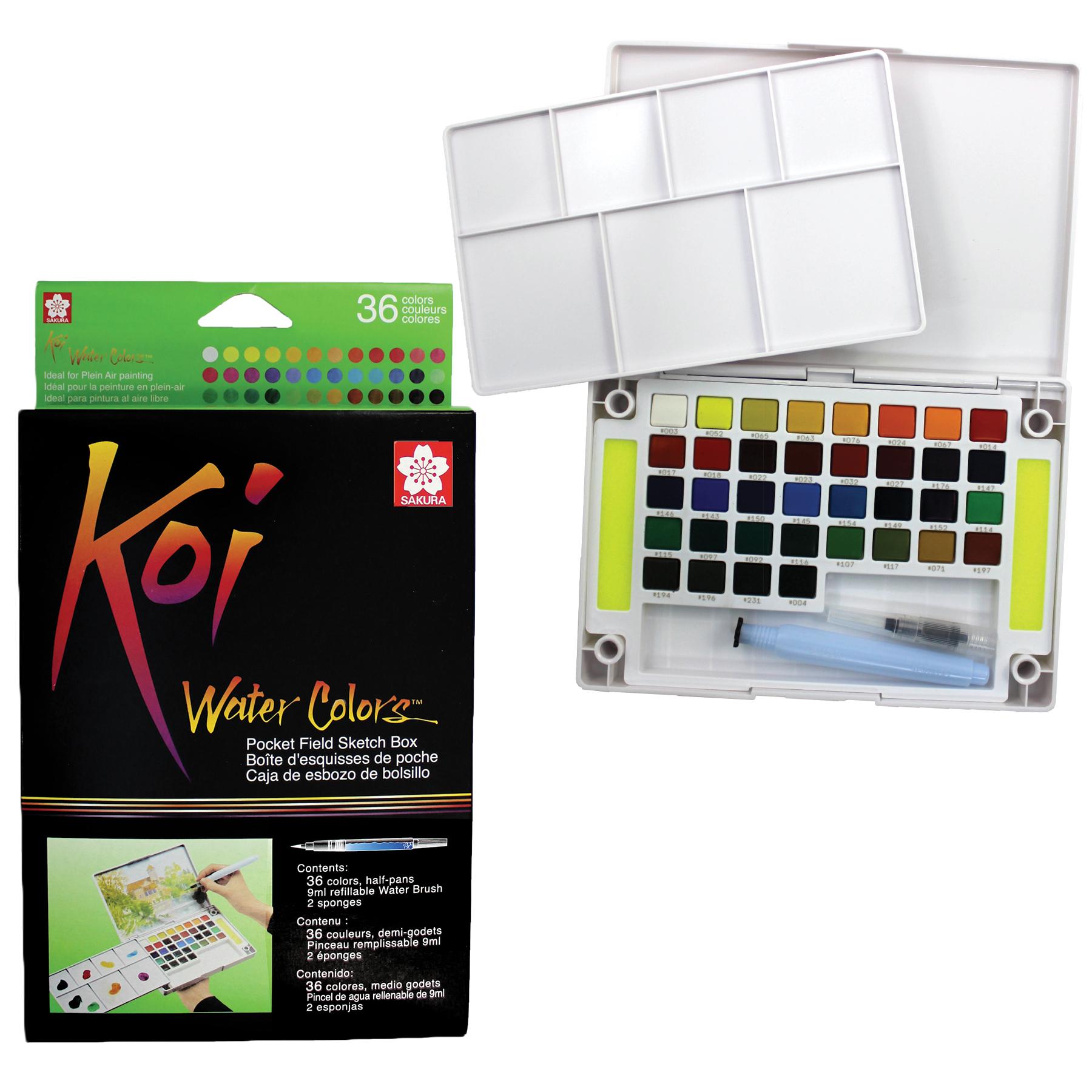 Sakura Koi Watercolor Pocket Field Sketch Box Set, 36 Colors