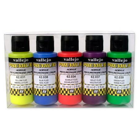 60ml Bottle Fluorescent Premium Paint Set (5 Colors)