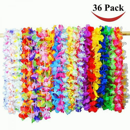 Joyin Toy 36 Counts Tropical Hawaiian Luau Flower Lei Party Favors (3