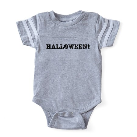 CafePress - Halloween Ex_Offwh - Cute Infant Baby Football Bodysuit