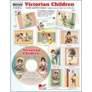ScrapSMART Victorian Children Cards and Envelopes CD-ROM