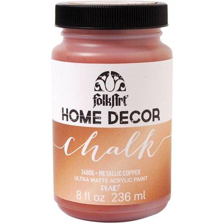 FolkArt Home Decor Chalk Paint Metallic 8oz Walmartcom